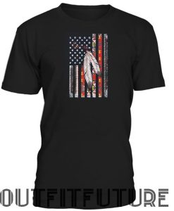 American flag native americans T-SHIRT