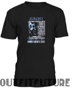 Jeremy not one to mess with male werewolf T-SHIRT