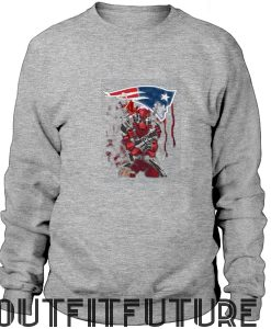 New England Patriots Deadpool Sweatshirt