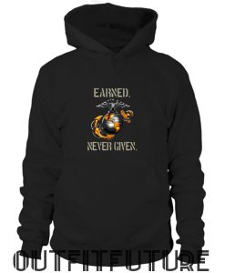 United States Marine Corps Earned Never Given Mug Hoodie