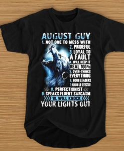 10 THINGS ABOUT AUGUST GUY WOLVES T-SHIRT BC19