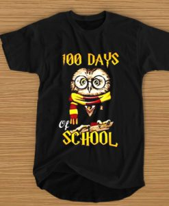 100 DAYS OWL OF SCHOOL GRYFFINDOR MAGIC WIZARD T-SHIRT BC19