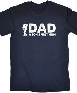 123t Men's Dad A Son's First Hero T-Shirt BC19