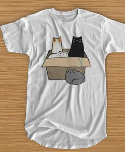 4 CATS IN A BOX T-SHIRT BC19