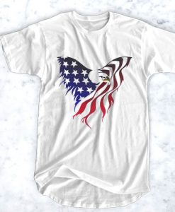 AMERICA EAGLE FLAG T-SHIRT FOR MEN AND WOMEN BC19