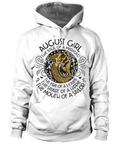 August girl the soul of a mermaid hoodie