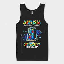 Autism travelling life's journey using a different Tank Top