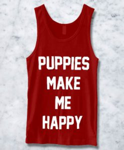 PUPPIES MAKE ME HAPPY TANKTOP BC19
