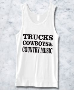 TRUCK COWBOYS COUNTRY MUSIC TANKTOP BC19