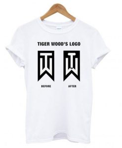 Tiger Woods Before And After Logo Golf T shirt BC19