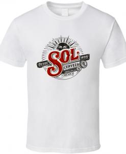 cerveza sol logo t-shirt BC19