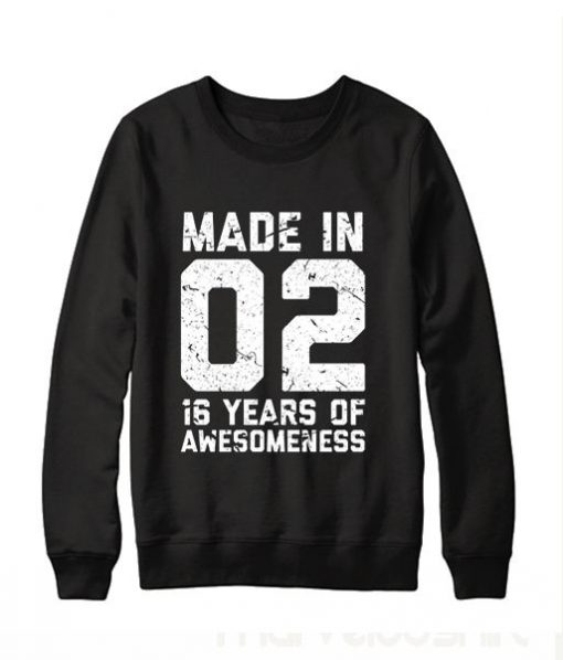 16th Birthday Sweatshirt BC19