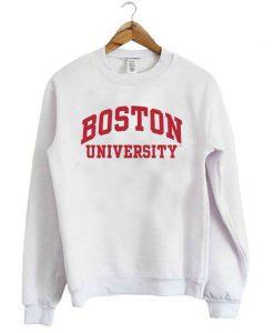 Boston University White Sweatshirt