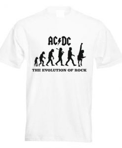 AC DC The Evolution of Rock T shirt BC19