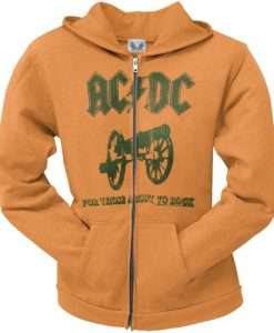 AC/DC - For Those About To Rock Juniors Zip Up Hoodie BC19