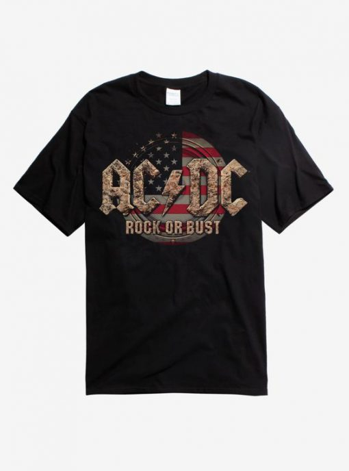 ACDC Rock or Bust Flag T-Shirt BC19