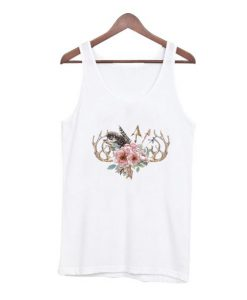 Antlers and flowers tank top BC19