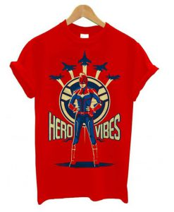 Captain Marvel Avengers Endgame Hero Vibes T shirt BC19