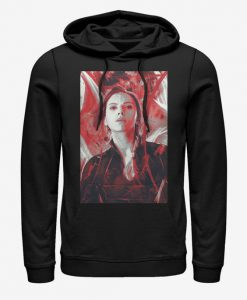 Marvel Avengers Black Widow Endgame Red Painted Hoodie BC19