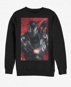 Marvel Avengers Endgame War Machine Painted Sweatshirt BC19