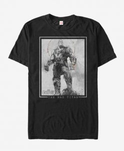Marvel Avengers Infinity War Thanos Grayscale T-Shirt BC19