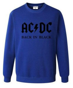 Mens Music Letter ACDC band rock Printed Sweatshirt BC19