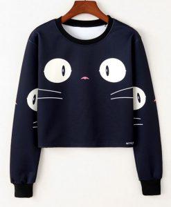 Cat Face Sweatshirt ZK01