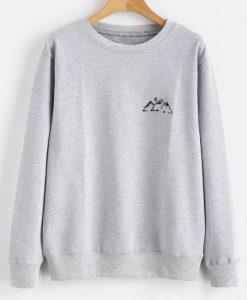 Gray Cloud Autumn Moon Sweatshirt AD01