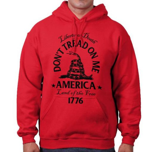 Dont tread on me snake flag political usa hoodie LP01