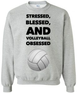Blessed and Volleyball obsessed Sweatshirt AI)1