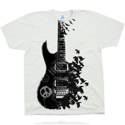 Crow Guitar T-Shirt VL01