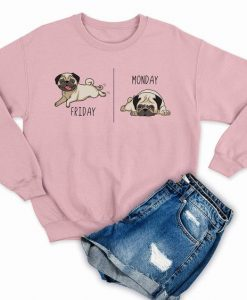 Cute Pug Sweatshirt AV