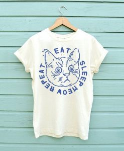 Eat Sleep Meow Repeat T-shirt ER01