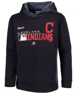 Youth Navy Cleveland Indians Hoodie AV01