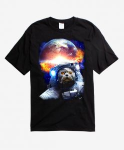 Astronaut Space Cat T-Shirt SR28N