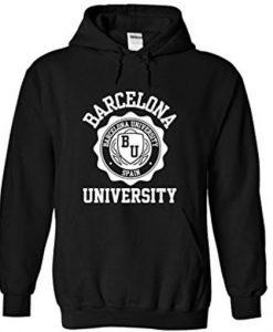 Barcelona University dark Hoodie FD29N