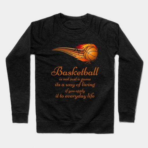 Basketball Slogan Sweatshirt SR30N