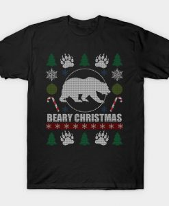 Gay Bear Beary Christmas Tshirt EL20N