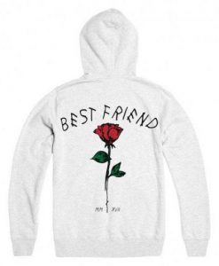 best friend rose Back hoodie FD29N