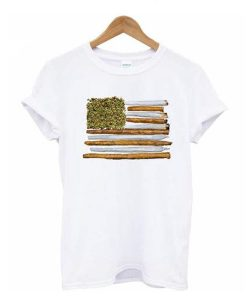 American Flag Weed t-shirt FD2D
