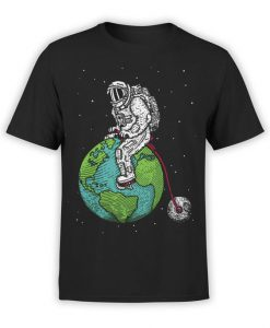 Astronaut Bicycle T-Shirt AZ23D