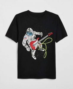 Astrounout And Guitar Tshirt FD9D