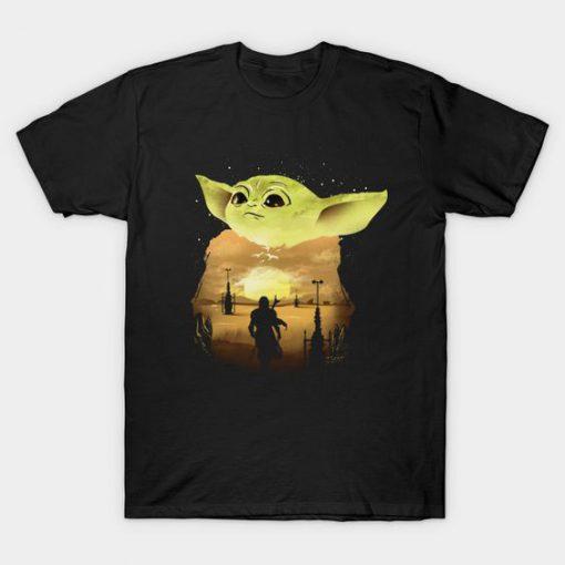 Baby Yoda Sunset T-Shirt RS27D