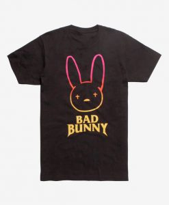 Bad Bunny Neon T Shirt SR7D