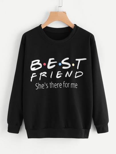 Best friend fashion sweatshirt FD5D