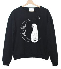 Cat And Moon Sweatshirt FD2D