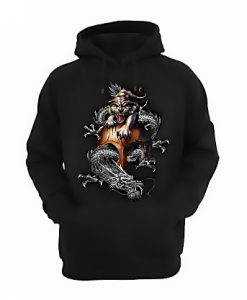 Chinese Tiger and Dragon Hoodie FD2D