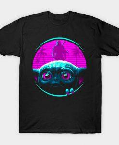 Retro Baby Mandalorian Tshirt Fd24D