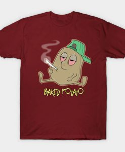 baked potato smoking Tshirt EL3D