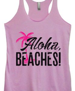 Aloha Beaches Design Tank Top SR17J0